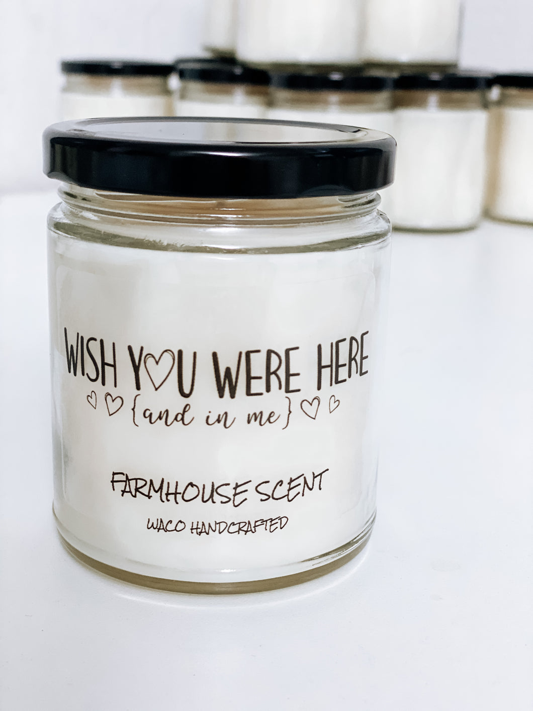 Wish You Were Here Scented Candle | 9 oz or 16 oz | Novelty Candle - Waco Handcrafted