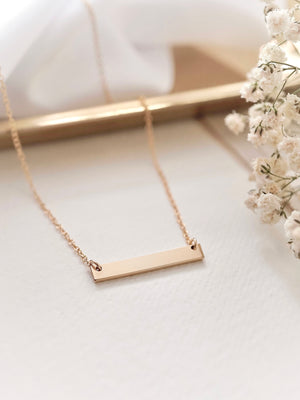 Juno Bar Necklace — Gold Filled