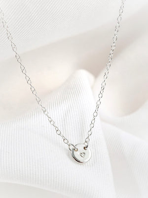 Lucia Petite Connector Necklace — Sterling Silver