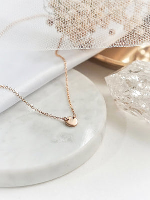 Lucia Petite Connector Necklace — Gold Filled