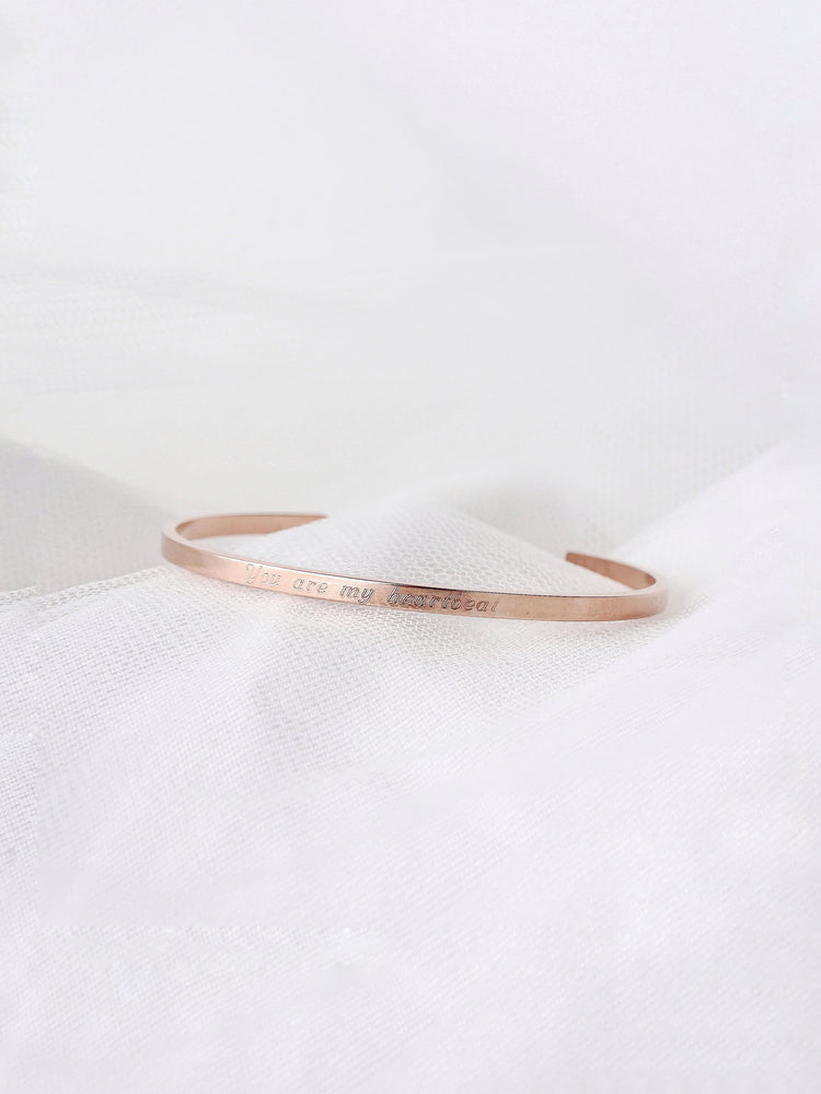 Kai Skinny Bangle — Rose Gold