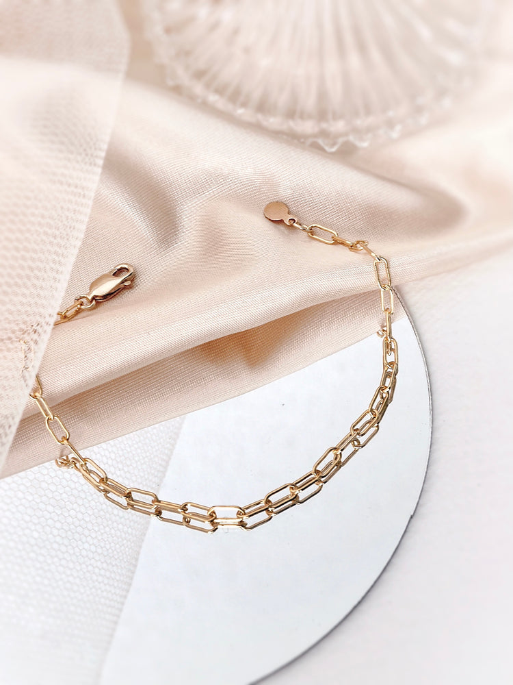 Sana Link Bracelet — Gold Filled
