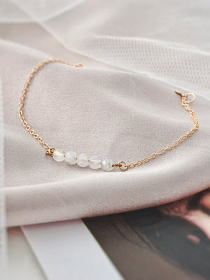 Lia Moonstone Bar Bracelet — Gold Filled