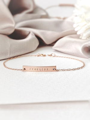 Load image into Gallery viewer, Ellery Bar Bracelet — Rose Gold Filled