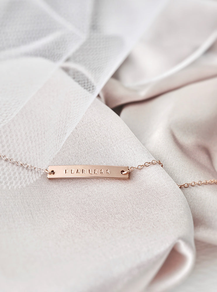 Ellery Bar Bracelet — Rose Gold Filled