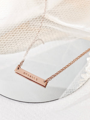 Load image into Gallery viewer, Juno Bar Necklace — Rose Gold Filled