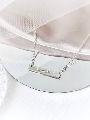 Juno Bar Necklace — Sterling Silver
