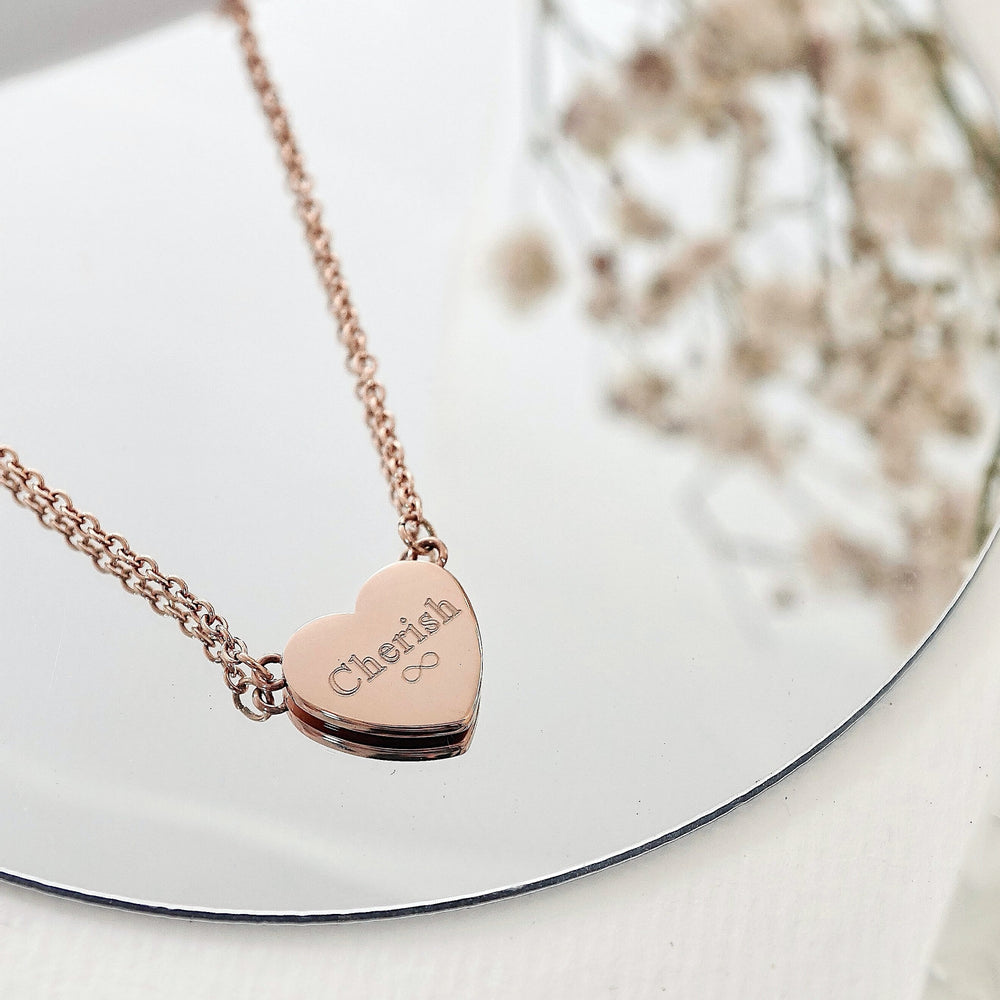 Jill Heart Necklace — Rose Gold