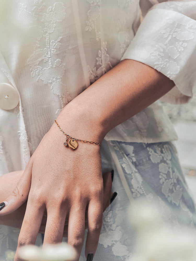 Load image into Gallery viewer, Rachelle Birthstone Bracelet — Gold