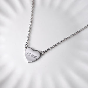 Jill Heart Necklace — Silver