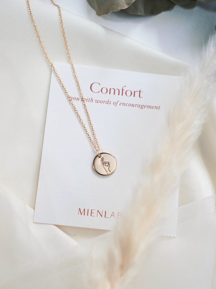It'll Be OK Disk Necklace —  Comfort