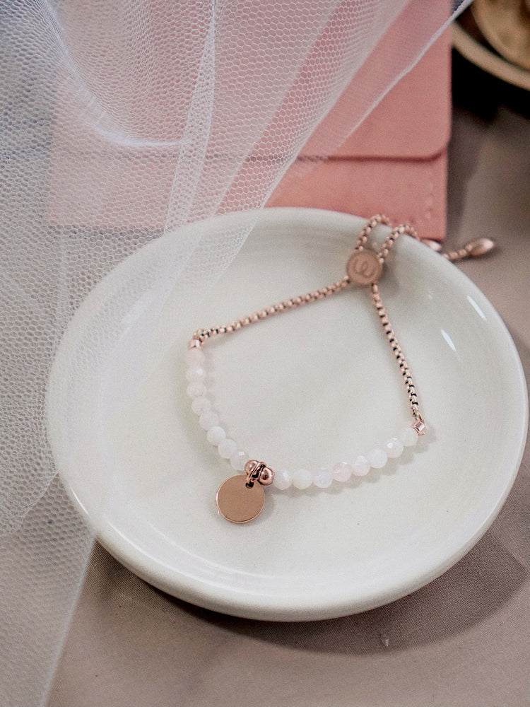 Reyler Slide Bracelet — Rose Quartz