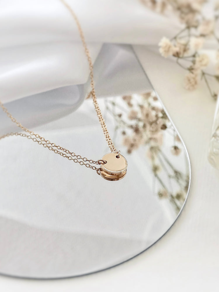 Kel Mini Connector Necklace — Gold Filled