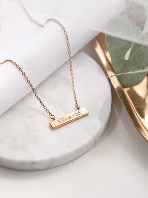 Jayme Bar Necklace — Gold