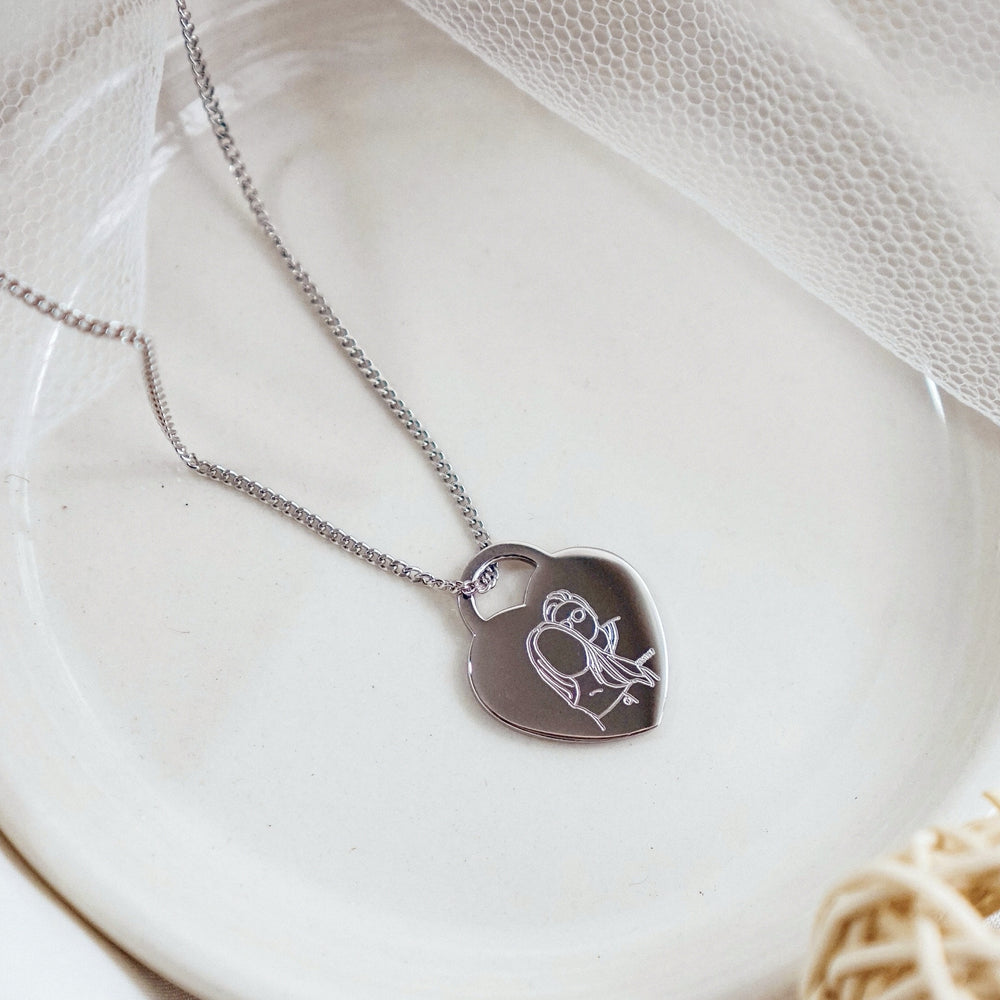 Portrait Heart Pendant Necklace