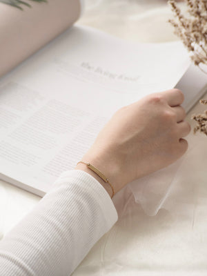 Ellery Bar Bracelet — Gold Filled