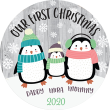 Load image into Gallery viewer, The Penguin Family Christmas Ornament 2020