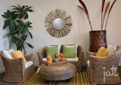 Natural Rattan 4 PCS Set Bali