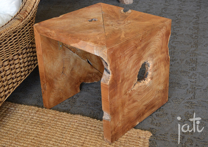 Teak Root U Table