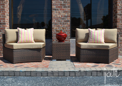 Outdoor Wicker Round Set 3 PCS