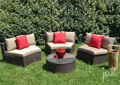 Outdoor Wicker Round Set 4 PCS