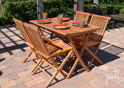 Teak Dining Set 5 PCS