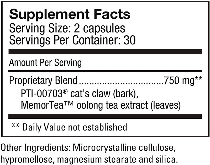 Percepta®-Natural Plant-Based Memory Support; 3 Months Supply