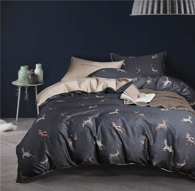 Chinoiserie Deer Duvet Cover