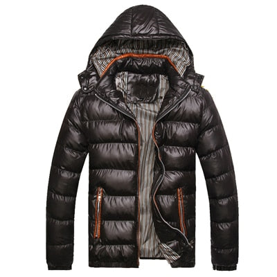Thermal Shiny Hooded Parkas