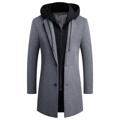 Chester Hooded Wool Coat