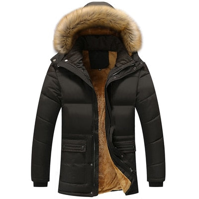 Lele Fur Collar Hooded Parka