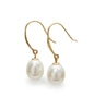 9ct Gold Drop Pearl Earrings