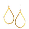 Gold Hammered Teardrop with Cubic Zirconia on Gold Filled Earwire