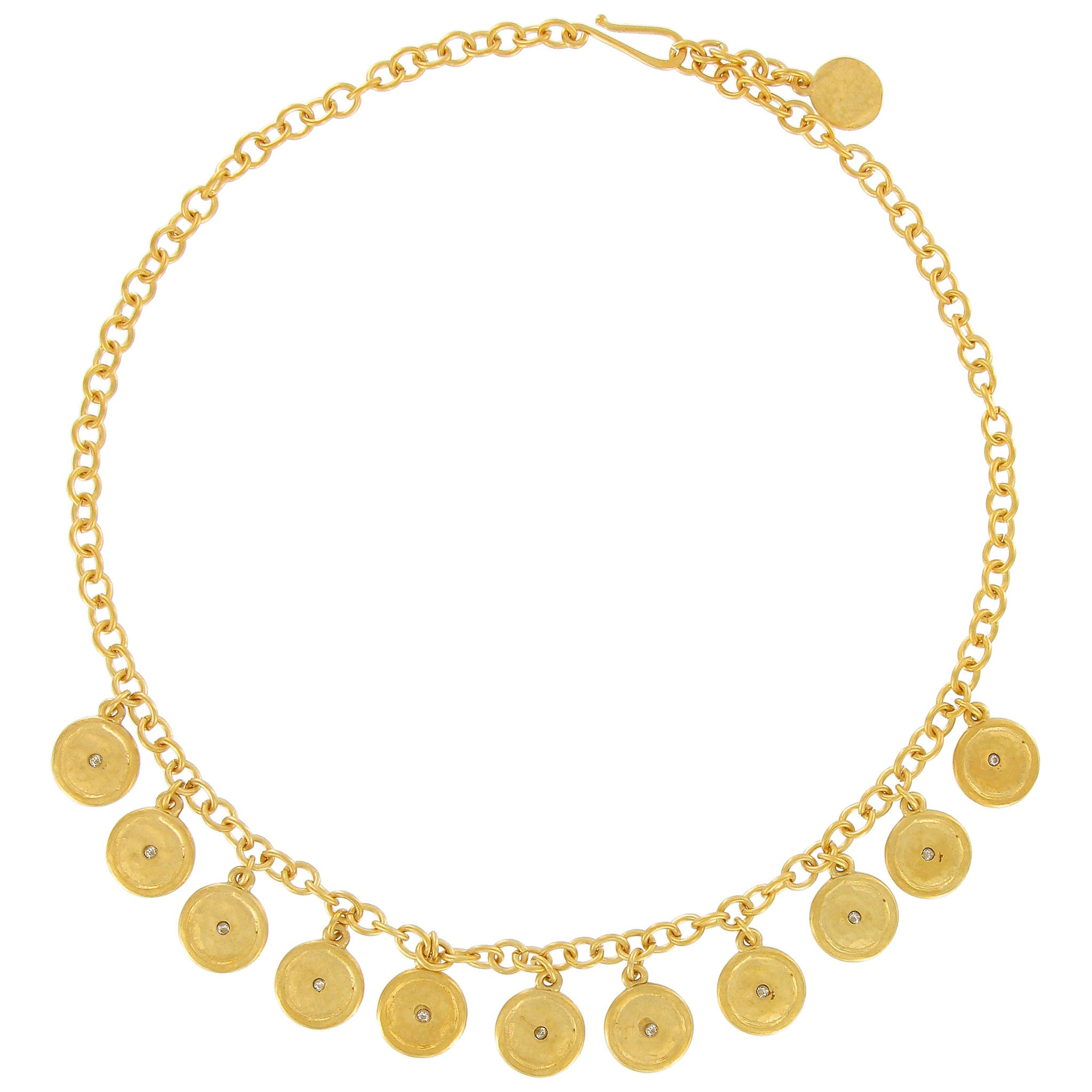 angie gold jewelz hammered rose by products large image disc necklace