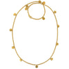 Gold Chain With Tiny Discs Necklace 24""