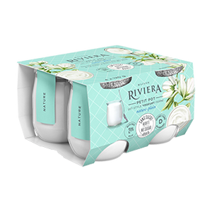 Riviera Plain Yogurt No Added Sugar - 2.8% M.G. (4 x 120 g)