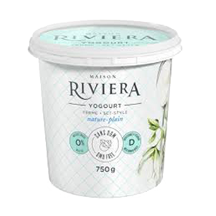 Riviera Plain Yogurt No Added Sugar - 2.8% M.G.(750g)