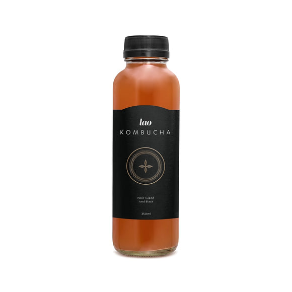 Case of Lao Kombucha - Noir Glacé  /  Iced Black (12 x 355ml)