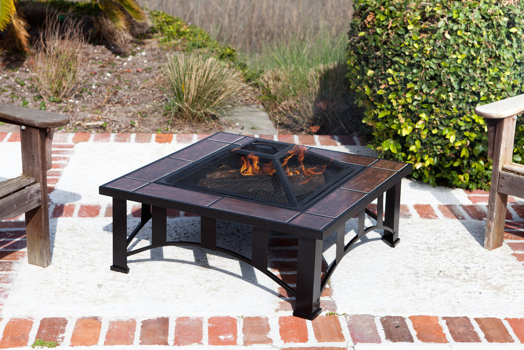 Well Traveled Living - Tuscan Tile Square Fire Pit