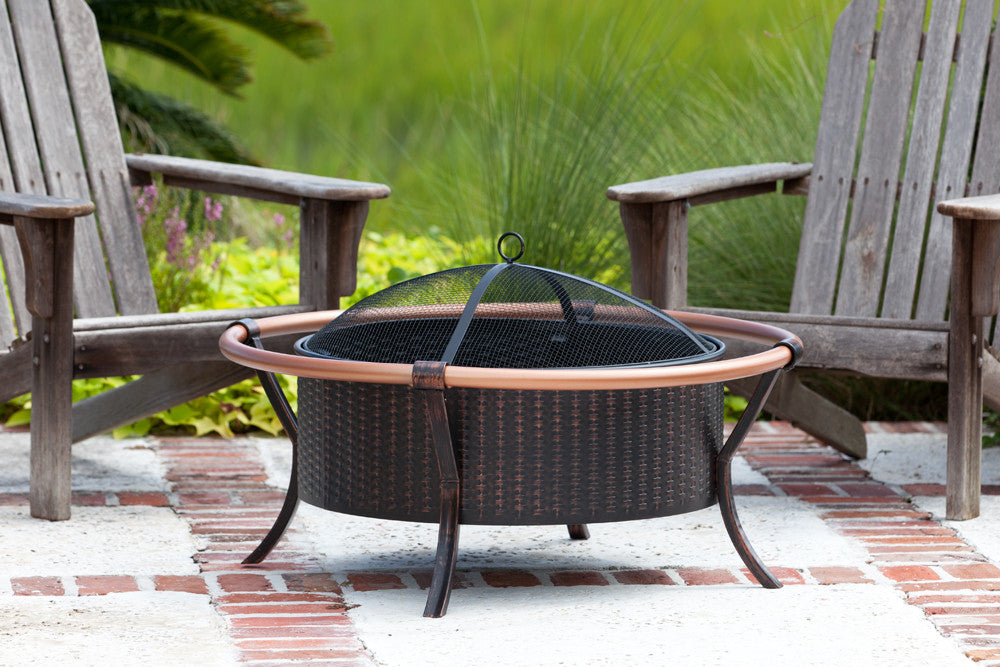 Well Traveled Living Copper Rail Fire Pit