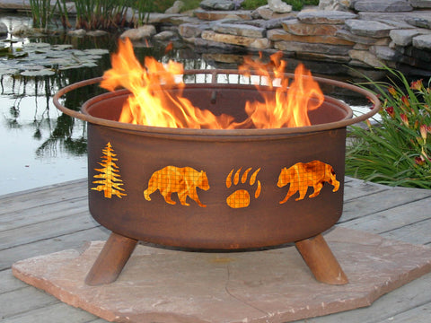 Bear & Trees Fire Pit