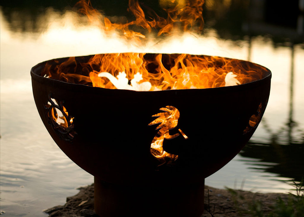 Kokopelli Fire Pit - Fire Pit Art