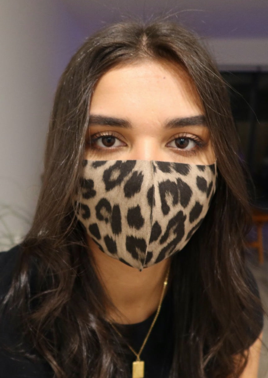 Face Masks - Plaid, Leopard, Black