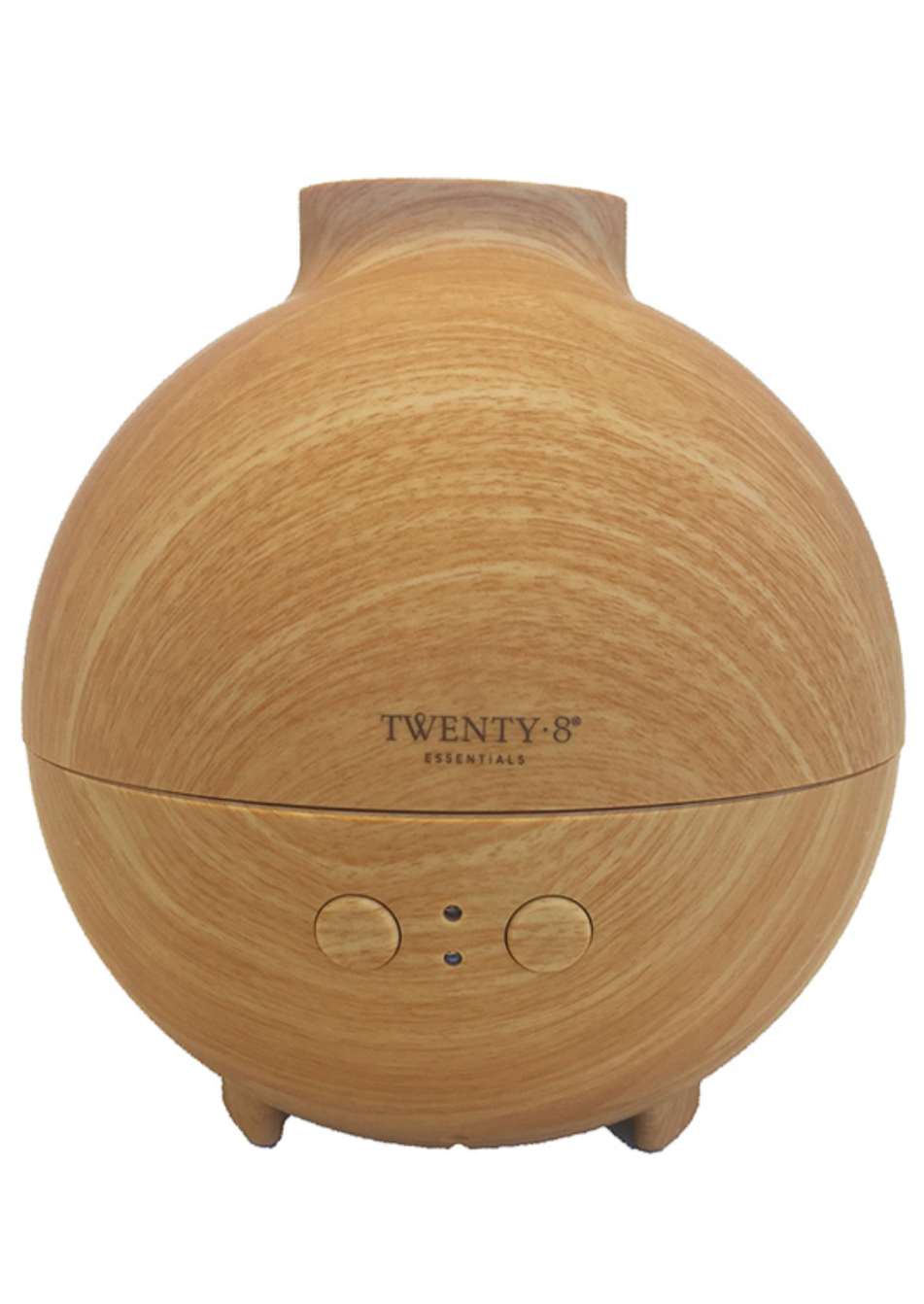 Twenty8 Signature Ultrasonic Diffuser  The Twenty8 Signature Diffuser has an elegant bamboo veneer finish and refined minimalist appearance giving it a modern style and look to suit any room.  It operates in a powerful yet subtle way with just 8-10 drops of pure essential oils needed in 600ml of water, giving it 12-24hours of continuous cool mist.   An effective way to create an aroma that calms the mind and enhances the mood. The ultrasonic technology utilises high frequency vibrations to atomise the liqui