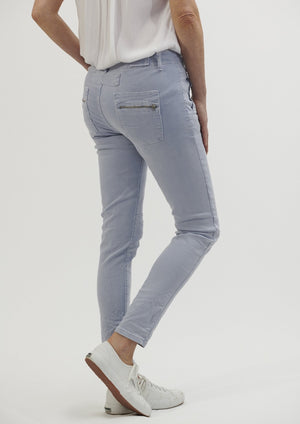 Italian Star Button Jeans - Ice Blue