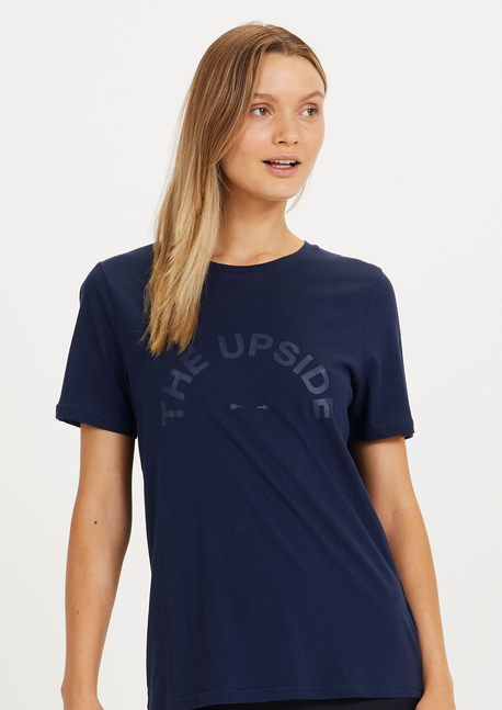 Loose fit tee in Navy.
