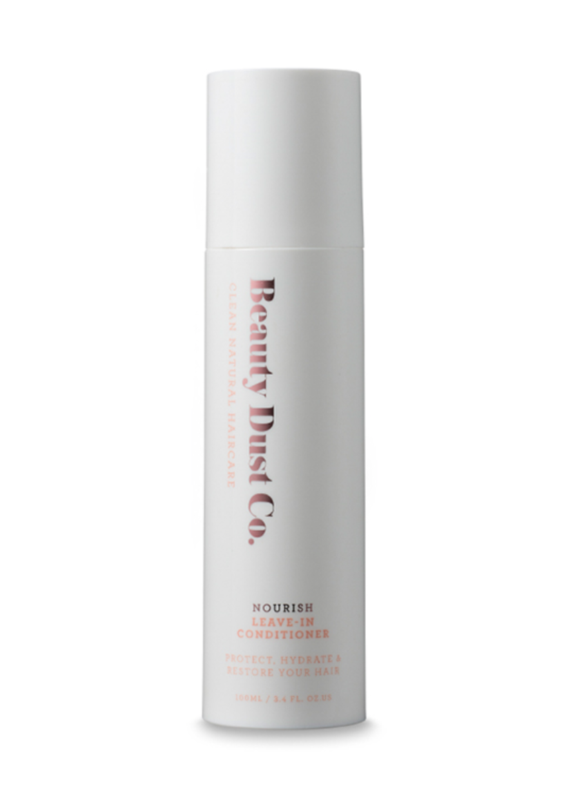 NOURISH - LEAVE IN CONDITIONER  PROTECT, HYDRATE & REPAIR YOUR HAIR.  A delicate luxurious leave-in conditioner infused with natural ingredients of Hibiscus Flower, Coconut Oil and Manuka Honey.  Triple conditioning, detangling, anti-frizz, UVA/UVB sun protection, thermal protectant, prevents breakage & split ends, ultra repairing, adds shine, softness & lustre.  86% Natural*  SULPHATE FREE + PARABEN FREE + PHTHALATE FREE + PETROCHEMICAL FREE + CRUELTY FREE