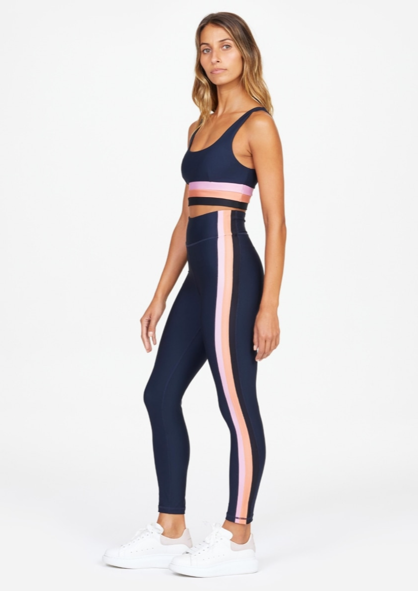 Jewel Colour Block Midi Pant - Indigo