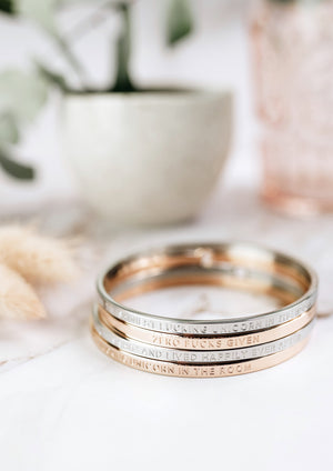 BE. Clasp Bangle - Rose Gold