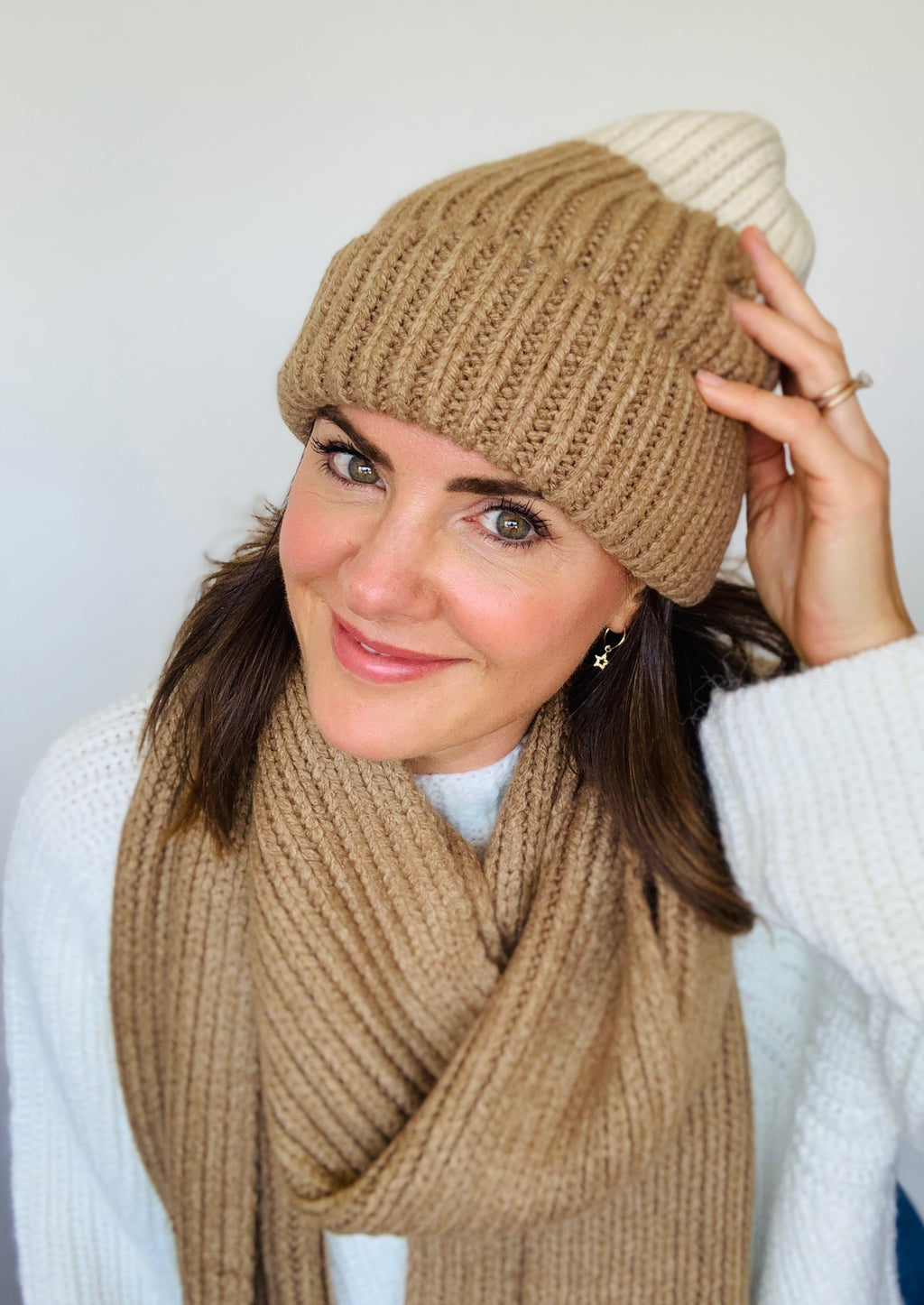 The Beanie Babe Hat is our latest obsession with its cozy rib sweater knit detailing.